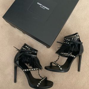 Givenchy Nappa sandals with fringe/silver studs